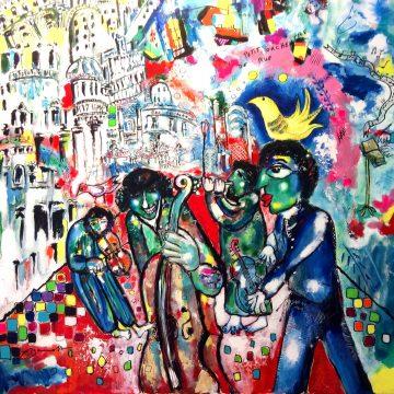 Petit orchestre de rue - JEAN LOUIS AZENCOTT