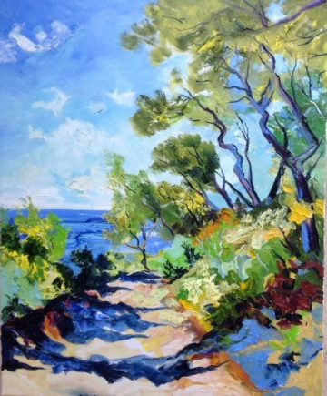 denis-ribas-paintings-2017-08-28-le-chemin-vers-la-mer-100x81cm