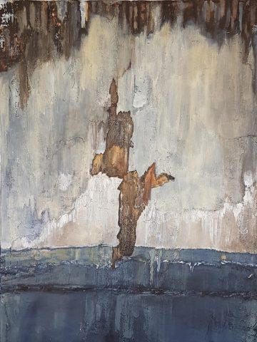 sans titre-acrylique et techniques mixtes sur toile- 116x89cm - Delphine BEGUINOT-DOLLET